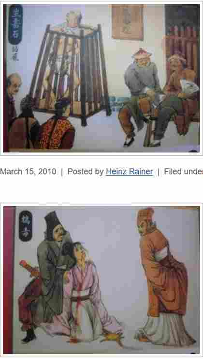 ancient Chinese torture methods illustrated paintings photographed